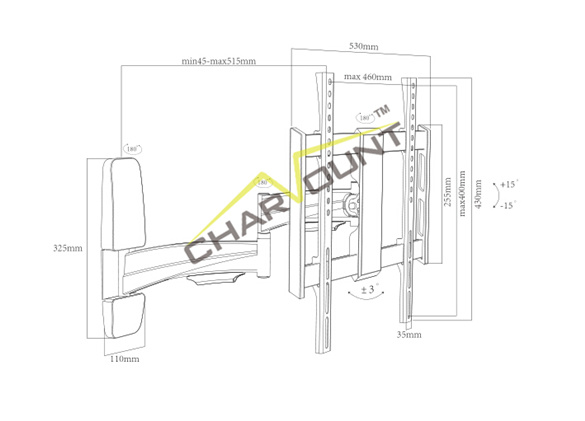 Aluminum LCD TV Mount Bracket (CT-LCD-IK102)
