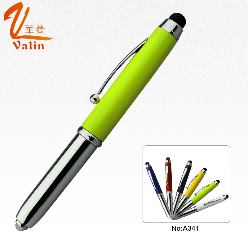 3 in 1 LED Light Metal Pen with Touch Screen pictures & photos