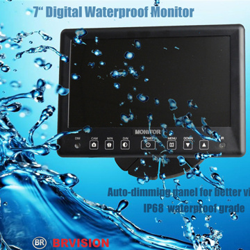 700tvl Waterproof IR Car Cameras/7 Inch Quad Split Screen Monitor pictures & photos
