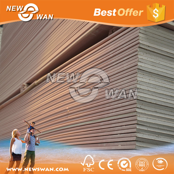 Fire Rated Gypsum Board / Fire Proof Plasterboard (9.5mm, 12mm, 12.50mm)