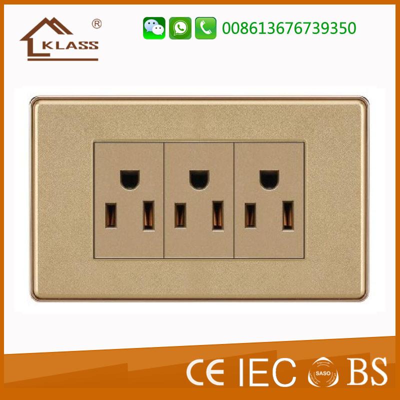 China Wholesale Latest Design Triple 3pin Wall Socket - China Wall ...