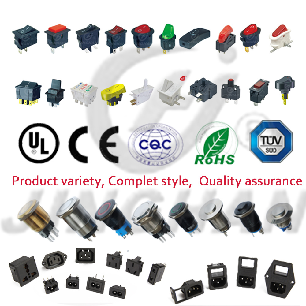 Jinghan Kcd4-130fs/4pn Illuminated Waterproof Rocker Switch Square Colors