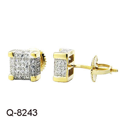 d3888c64a imitation Fashion Hip Hop Jewellery 925 Sterling Silver Diamond Iced out Stud  Earrings for Men