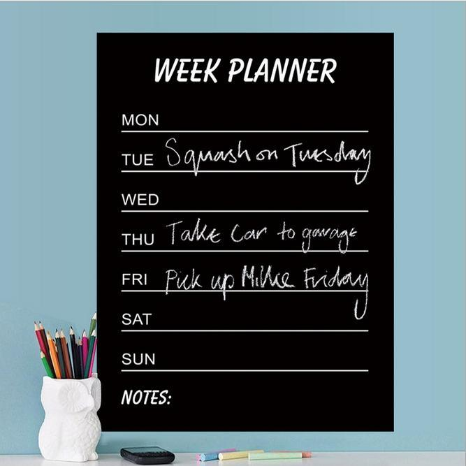 Customized Calendar Decal with PVC Chalk Marker Week Blackboard Chalk Sticker