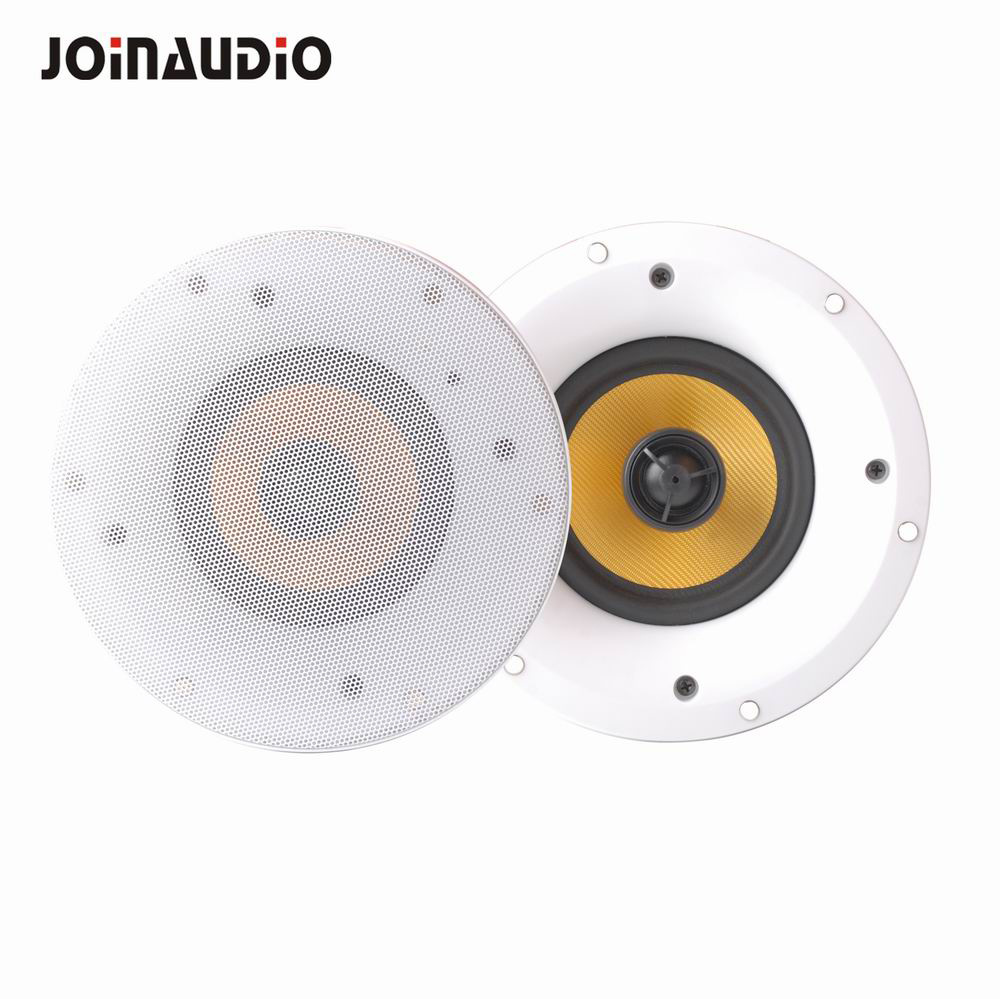 Hot Item 6inch 2 Way Stereo 40w 40w Wifi Bluetooth Wireless Ceiling Speaker With Frameless Design