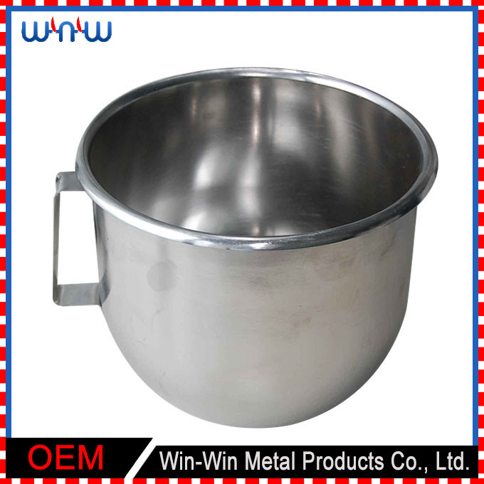 Deep Drawn Mixer Stainless Steel Mix Pot with Handle (WW-DP031)