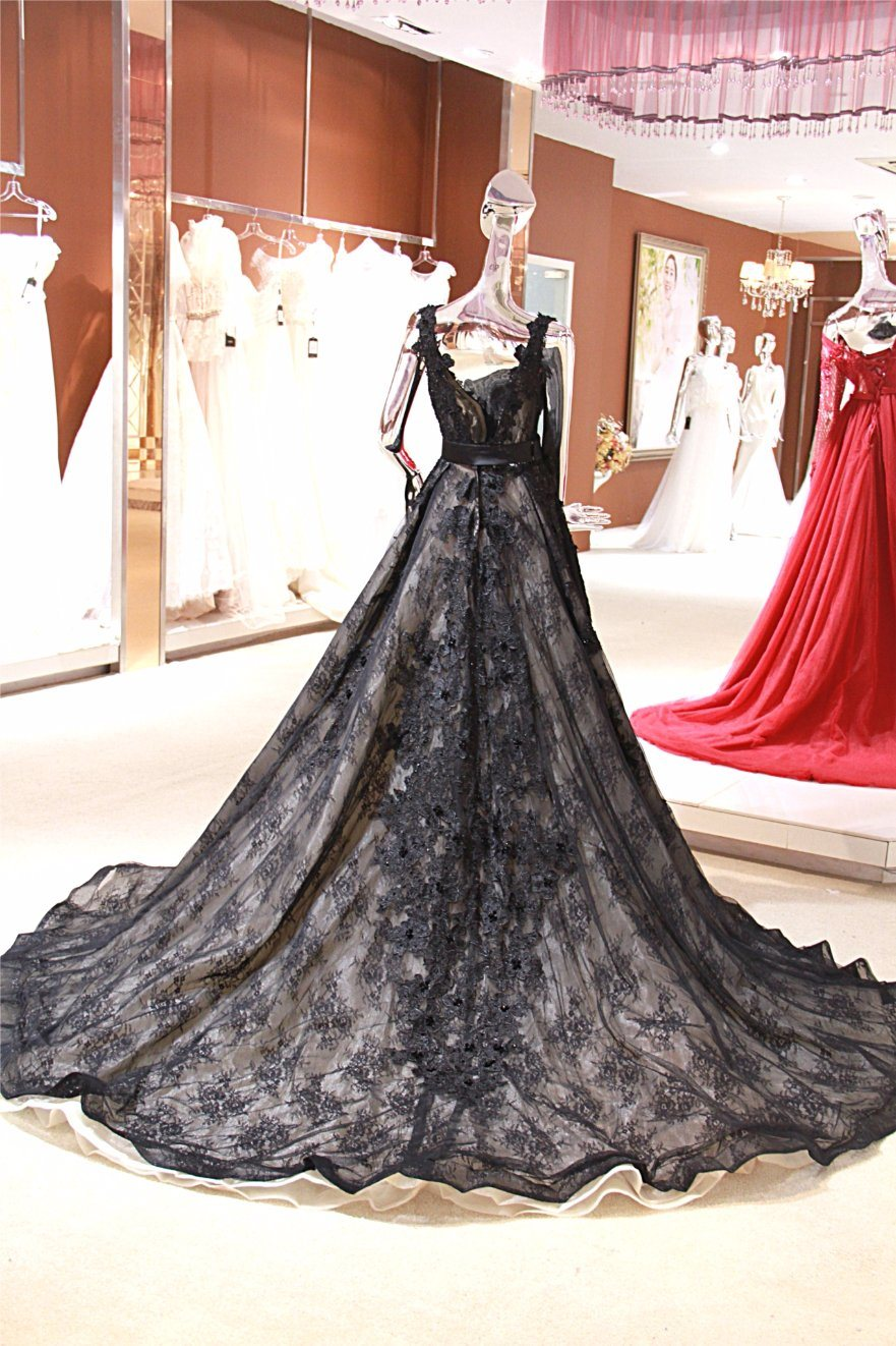 2ffd5a192b8 China Black Lace Ballgown Evening Party Wedding Gown Dresses Wgf143 ...