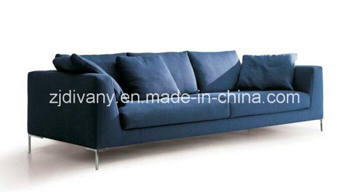 [Hot Item] Divany Sofa Modern Style Wooden Leather Fabric Sofa Set (D-71-D)