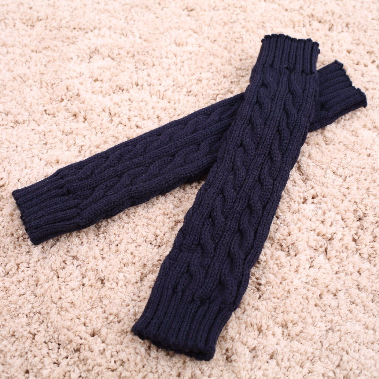 China Fashion Colorful Long Arm Warmers, Knitting Pattern Wool Hand ...