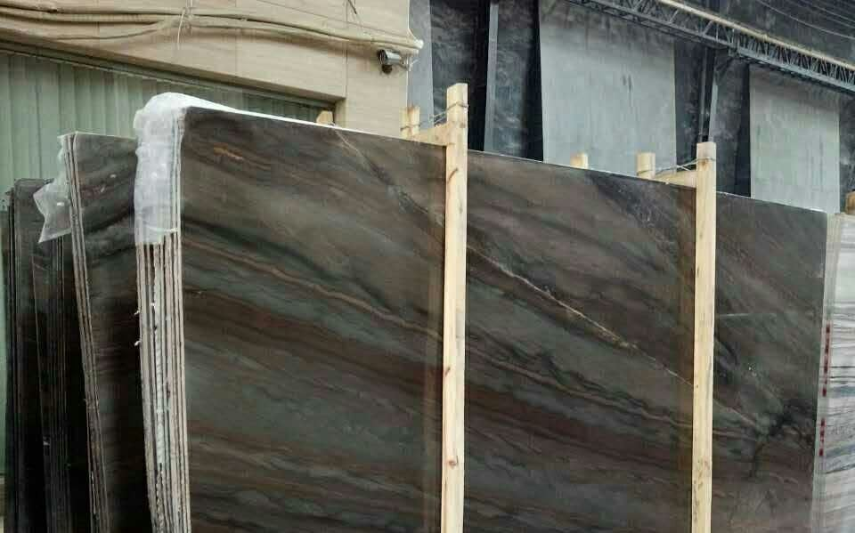 China Whole Natural Acquarella Elegant Brown Stone Granite Quartzite Bookmatch Slabs Price Online Tiles