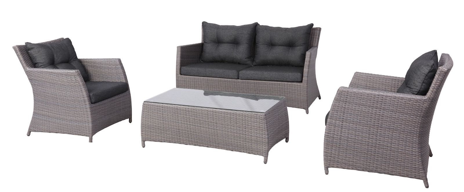 China 4pcs Delicate Wicker Outdoor Lounge Sofa Furniture Setting Garden Chairs Set