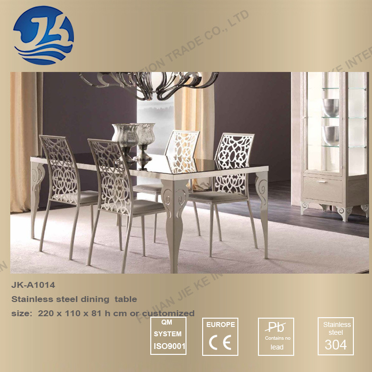 Hot Item Europe Design Furniture Dining Table With Artistic Stainless Steel Legs