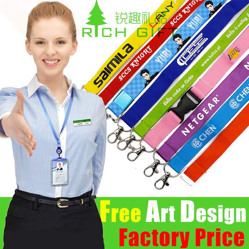 Custom Fashion Promotional Gift Printed Neck Polyester Printing Woven Sublimation Mobile Phone Promotion Nylon ID Card Holder Strap Lanyard No Minimum Order pictures & photos