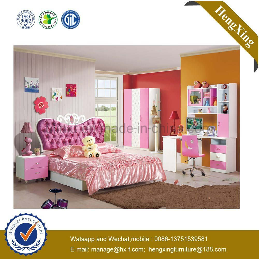 [Hot Item] 10 New Design Bedroom Bed Queen Size Bed Melamine Children Bed  (UL-H10)
