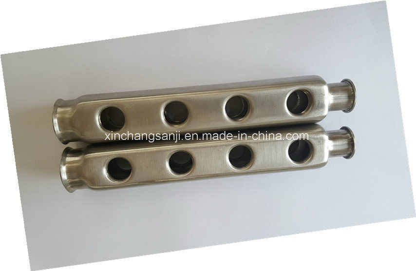 304 Stainless Steel Manifold Bars with 1′′ Swivel Nut for Underfloor Heating pictures & photos