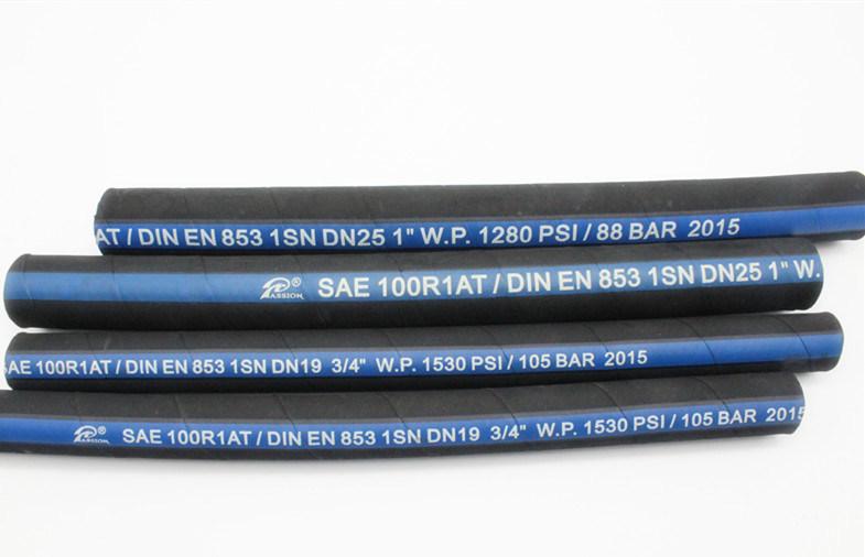 China SAE 100r1 1sn High Pressure Steel Wire Braided Hydraulic Hose ...