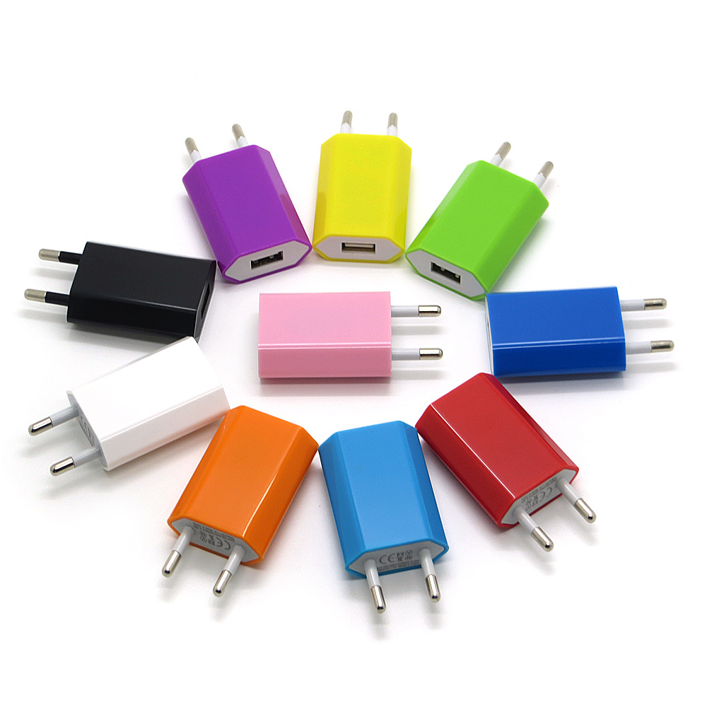 Colorful 5V 1A EU Plug USB Wall Charger Adapter for iPhone 7 6s 6 6 Plus 5 5s pictures & photos