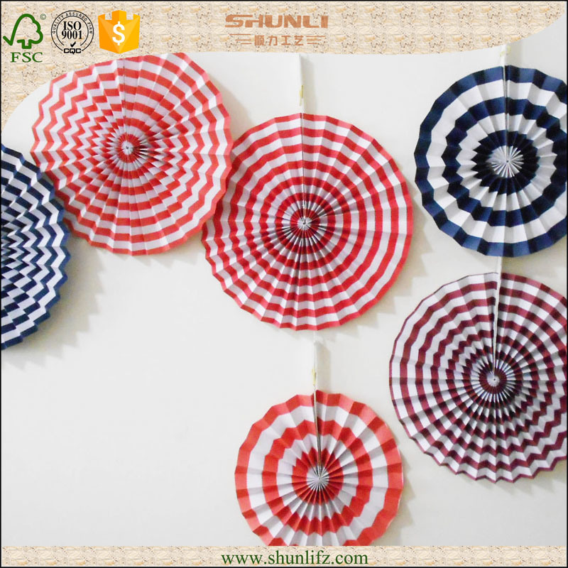 China Pinwheel Paper Flower Fans Birthday Stage Hanging Decoration