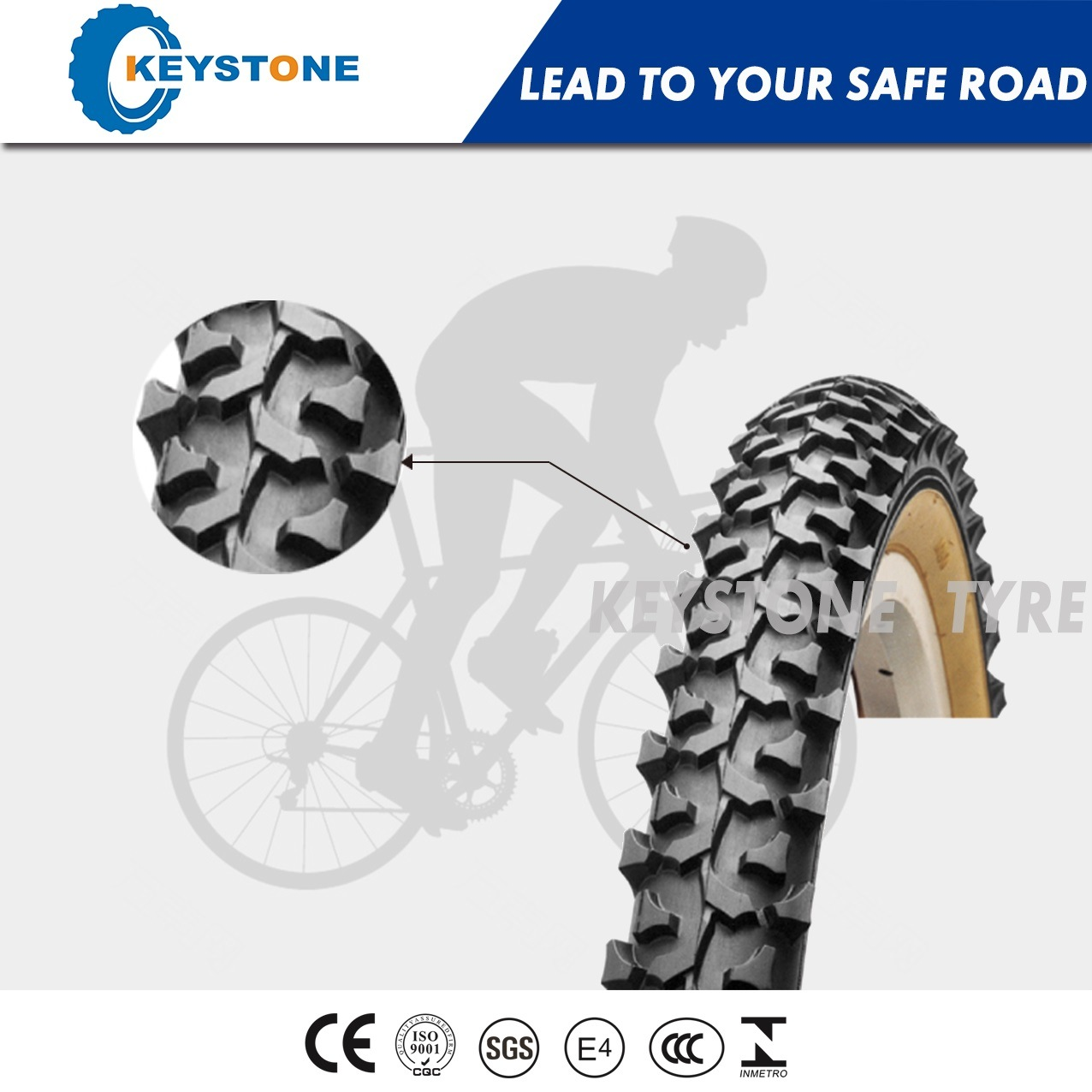 Euro Standard Bicycle Tire with Dual Compound for All Mountain 26X2.20 26X2.40