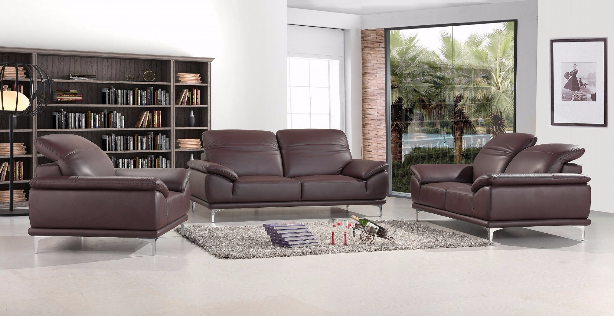 [Hot Item] European Modern Living Room Sofa Sectional Leather Sofa Sbl-1719  1+2+3