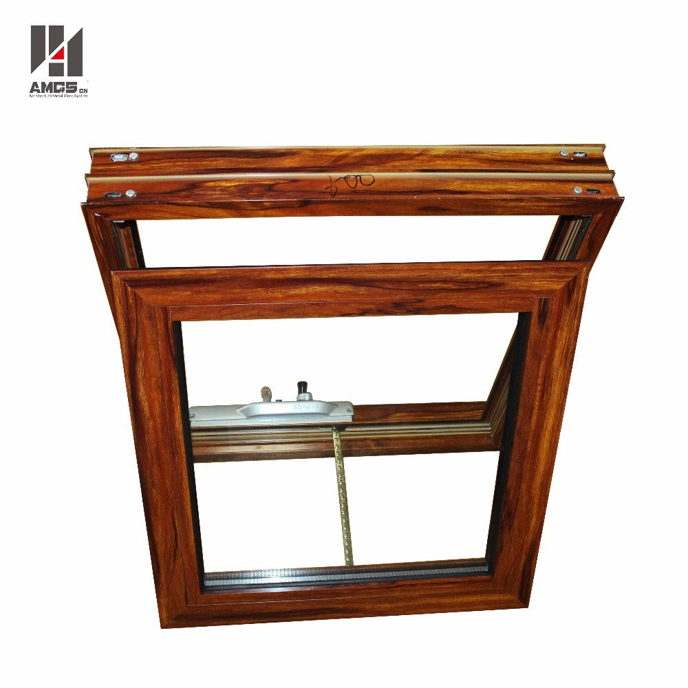 Australian Standard AS/NZS2208 Woodgrain Color Double Glass Aluminium Window Awning pictures & photos