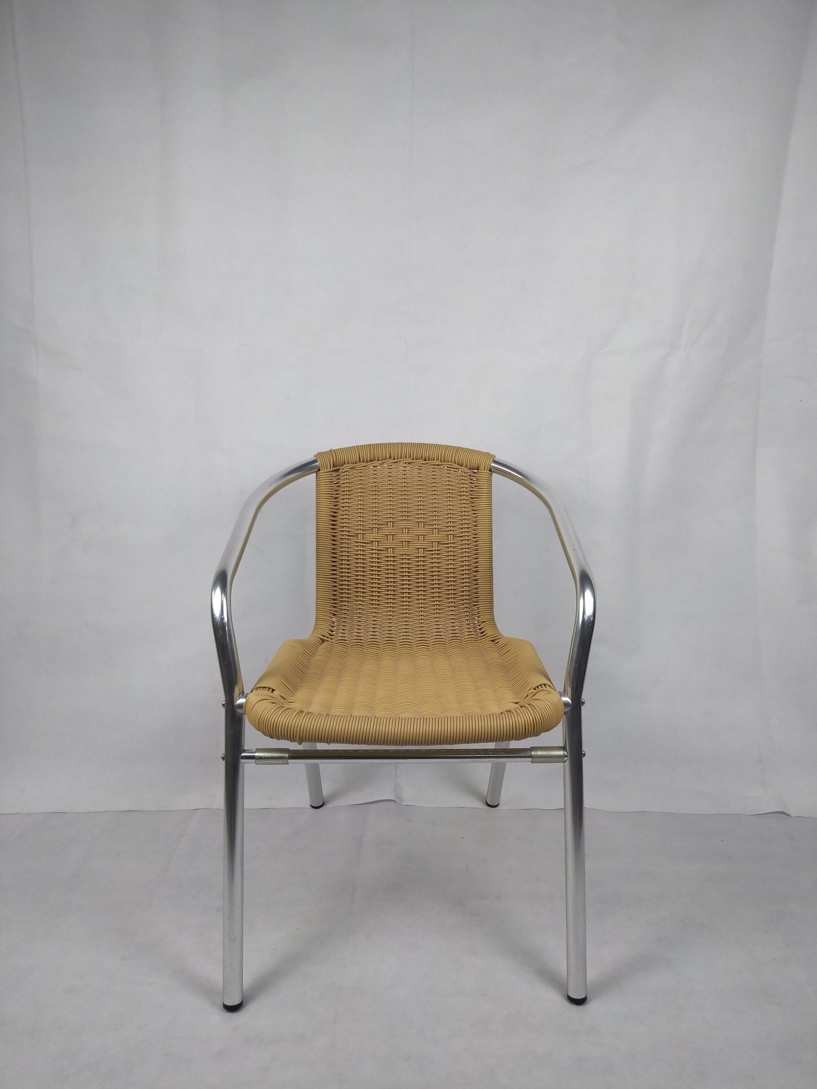 [Hot Item] Commercial Outdoor Bistro Restaurant Chair Aluminium Slat Heavy  Duty Garden Chair Furniture