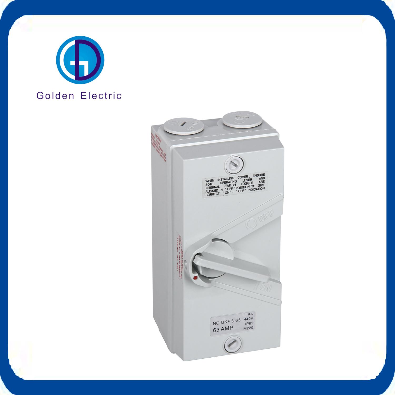 China on and off Switch Box 3 Pole Breaker Switch 20A 500V - China ...