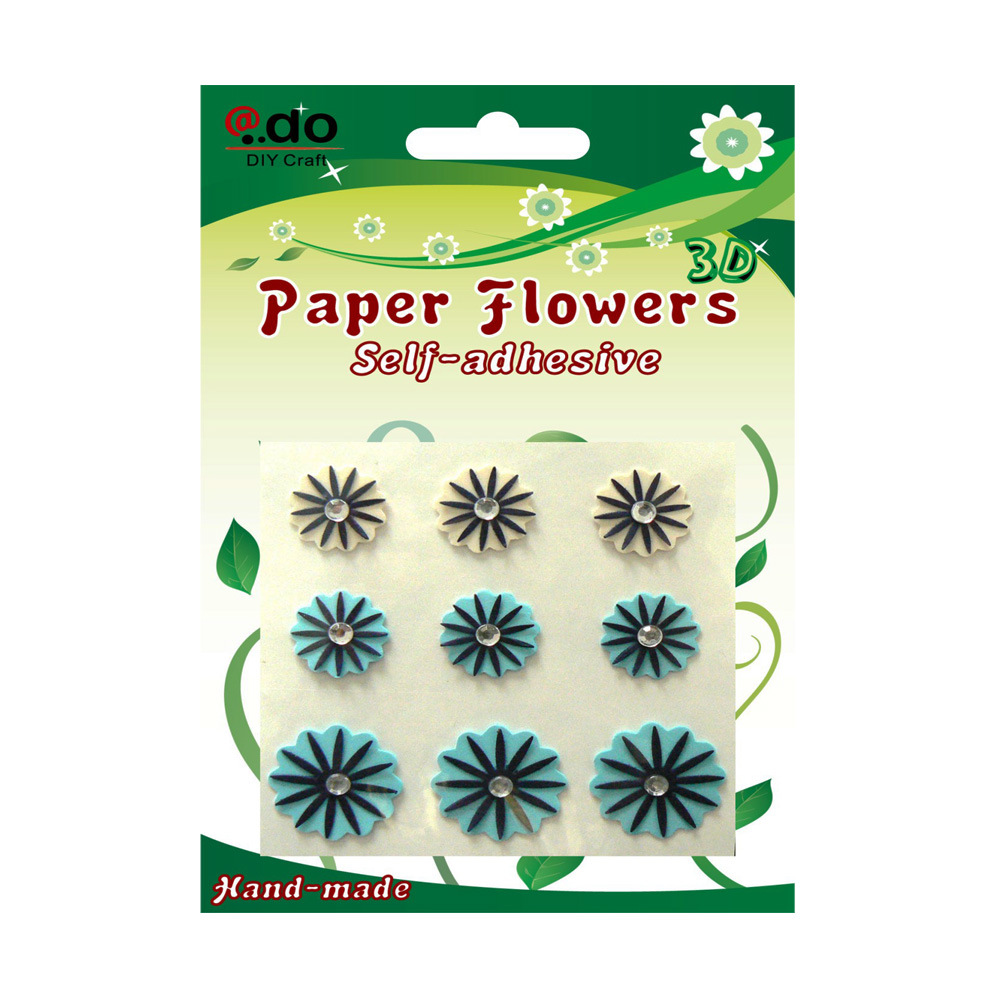 China self adhesive paper flower sticker for card making fb 04 china stickers paper flower