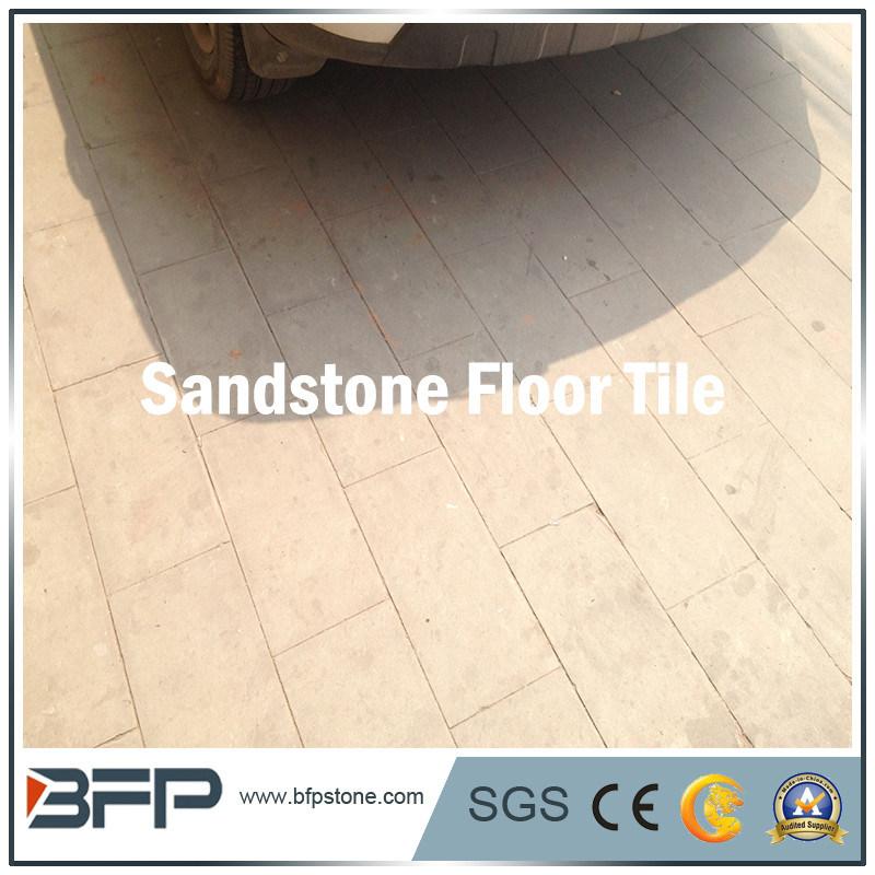 China Natural Stone Floor Tile Beige Sandstone For Interior Design