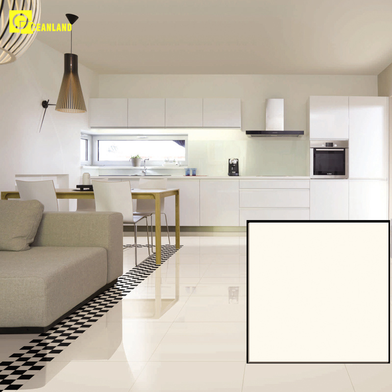 China Best Super Glossy White Polished Porcelain Floor Tile Dj6501