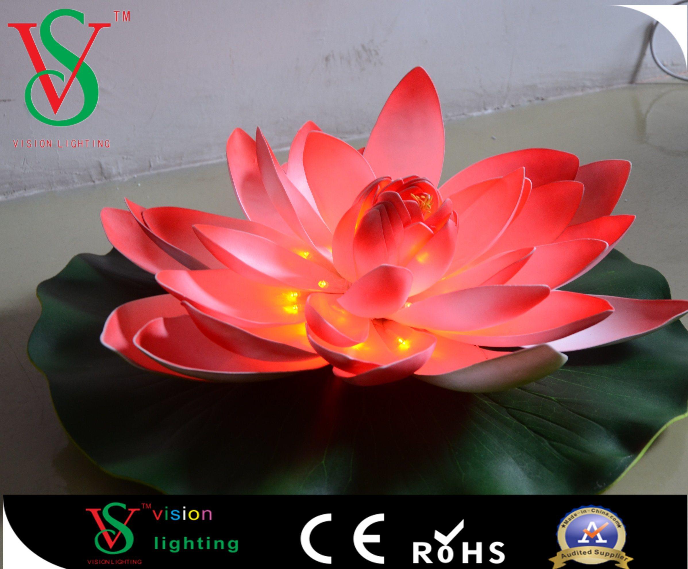 China Fancy Garden Light Artificial Led Lotus Flower Light China