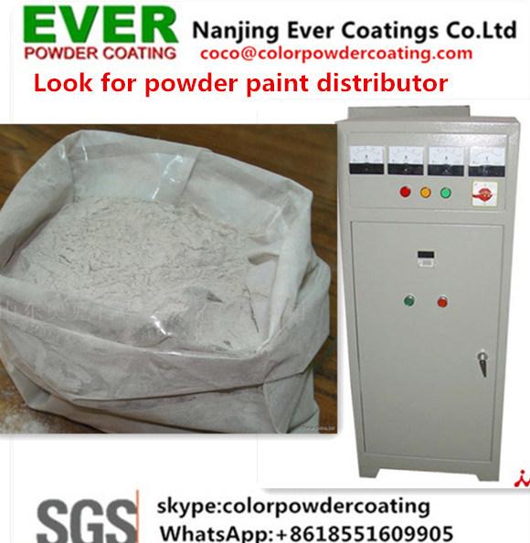 China Electrostatic Painting Gun Ral7032 Grey Color Textured Powder