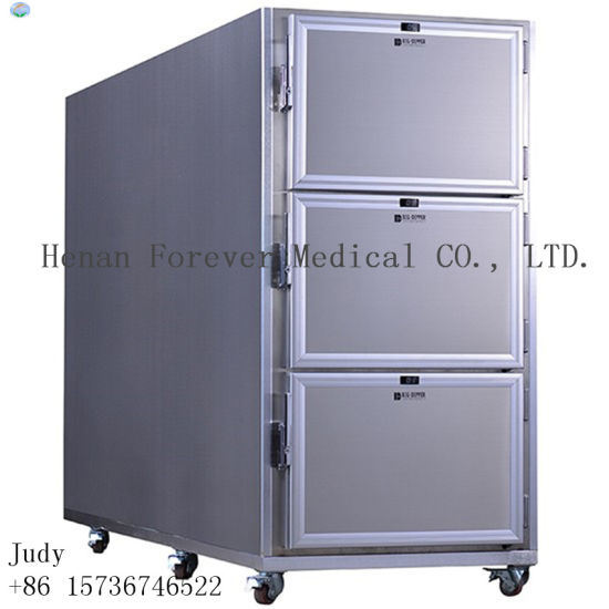 Three Bodies Morgue Refrigerator Mortuary Cooler Corpses Cabinet Mortuary Freezer pictures & photos