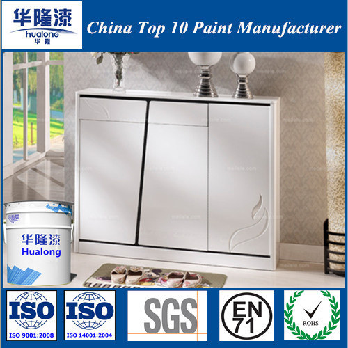 Elegant Hualong Mirror Shining PU Furniture White Varnish Paint