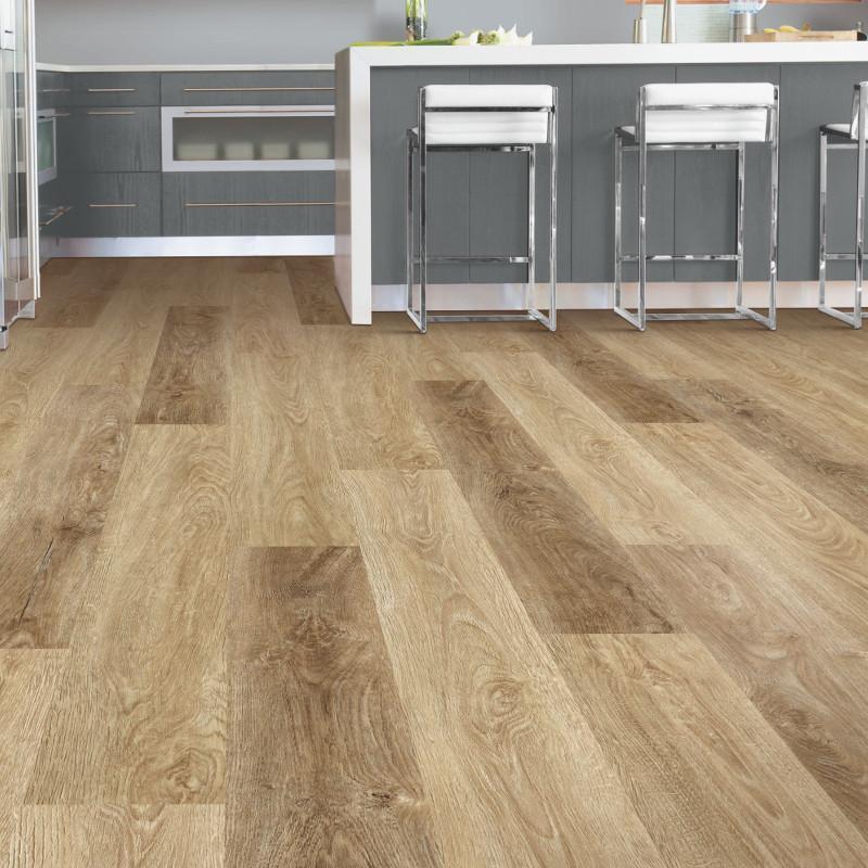 China 5mm Natural Wood Effect Lvt Pvc Vinyl Click Floor Tiles
