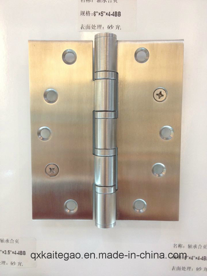 "Stainless Steel Ball Bearing Practical Door Hinge (6""X5""X4.0mm-4BB) pictures & photos"