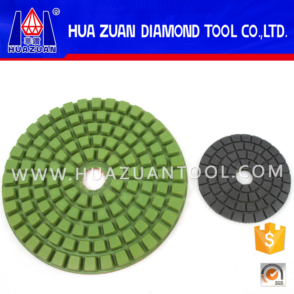 High Working Efficient 8 Inch Marble Polishing Pads pictures & photos