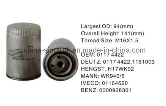 china high quality truck fuel filters for deutz 01174422 - china oil filter,  fuel filters