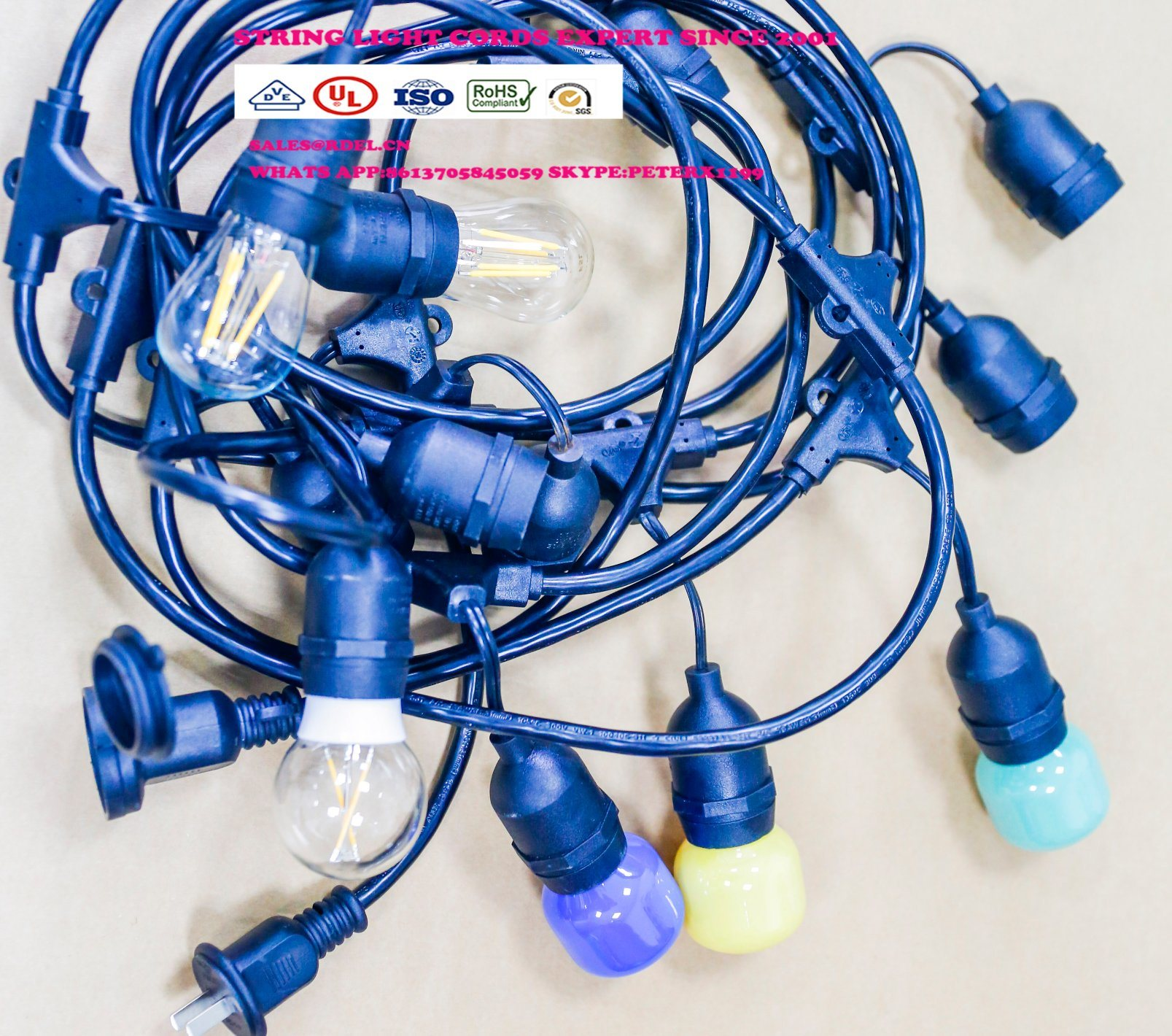 String Light Extension Cord with UL, cUL Approval pictures & photos