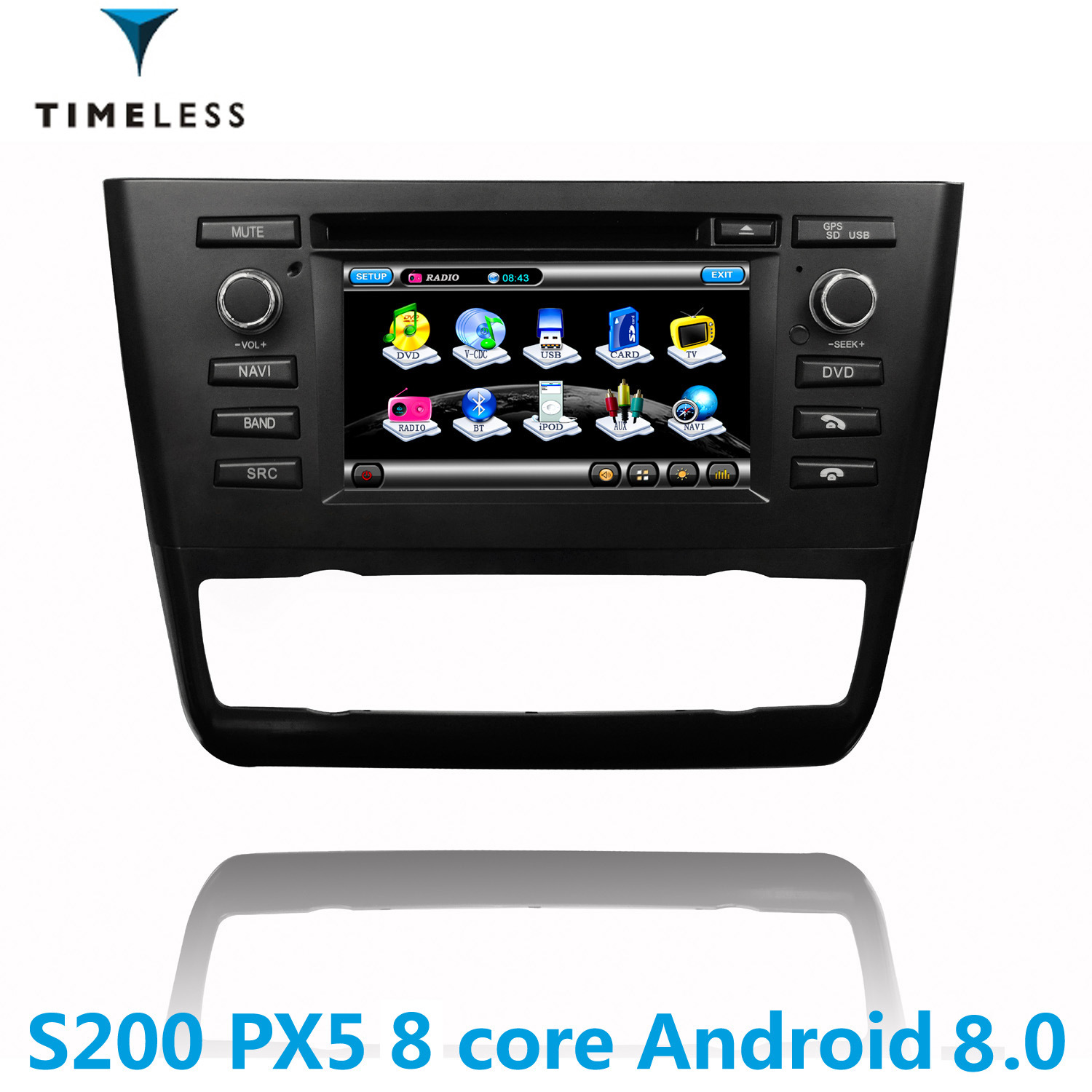 china timelesslong android 8 0 s200 platform 2din car radio dvd rh timelesslong en made in china com bmw 1 series professional radio manual pdf BMW 1 Series Coupe