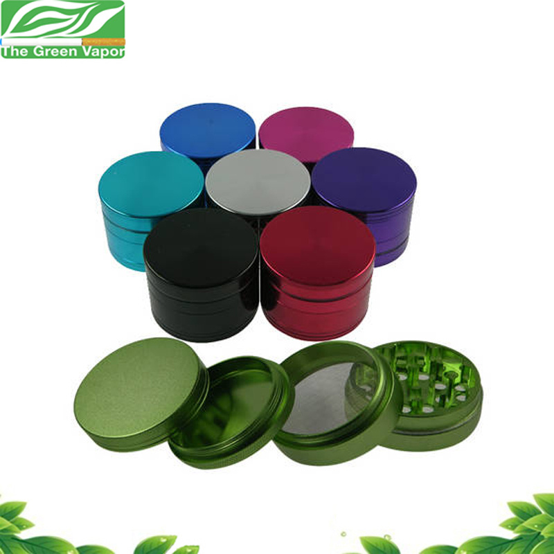 High Quality 4 Parts 55mm Colorful CNC Tobacco Grinder Aluminium with Scraper pictures & photos