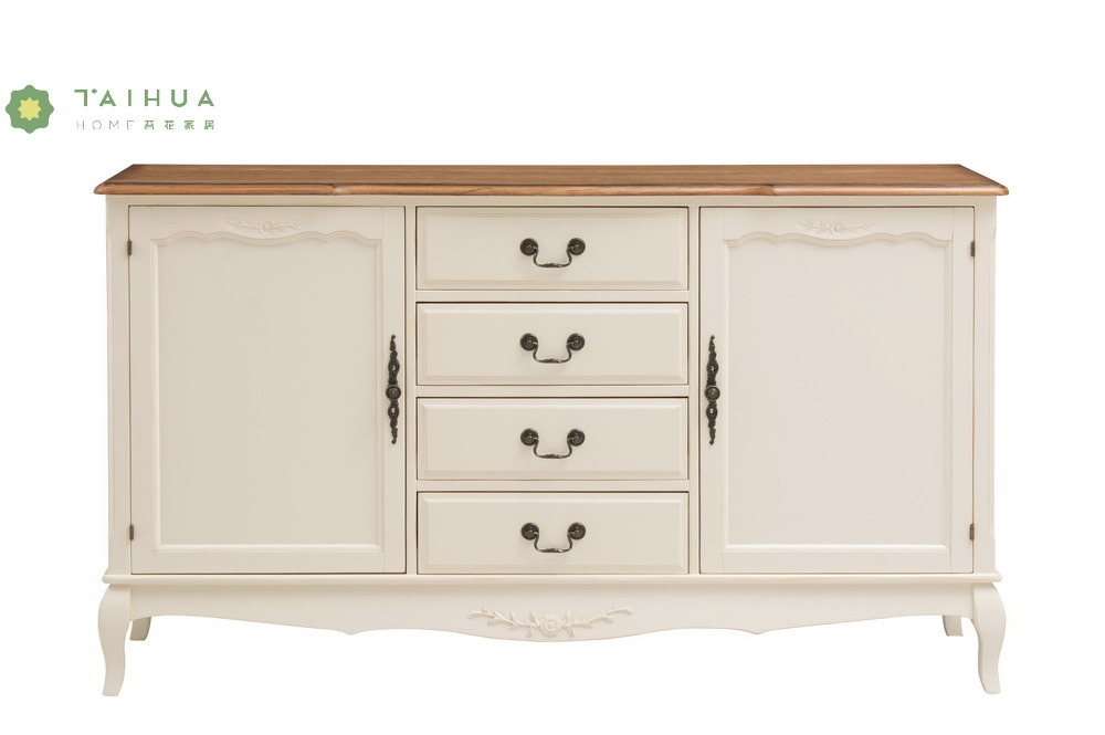 China White Full Solid Wood Chest With 4 Drawers China Modern
