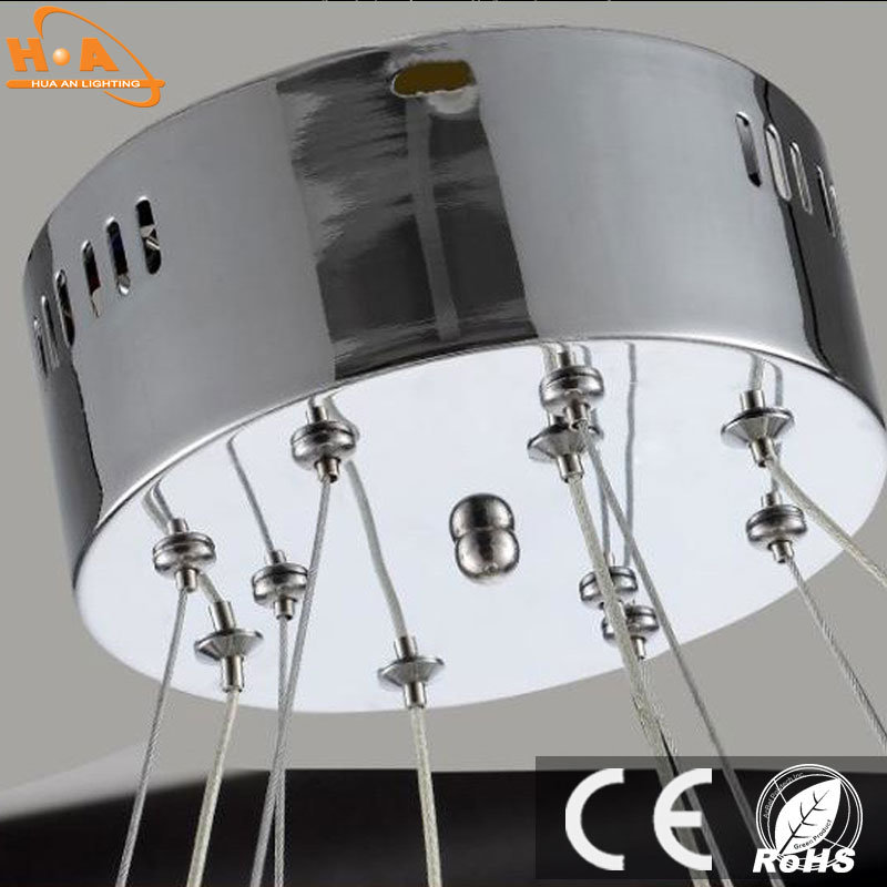 Three Crystal Round Rings LED Light Dining Room Chandelier