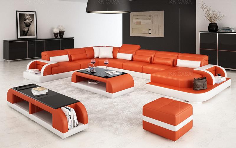 Fashion Sofa Italian Leather, Leather Living Room Furniture