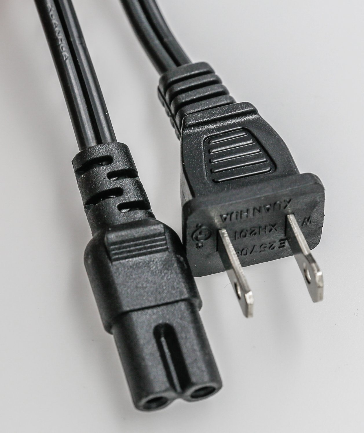 China Power Cord, 2 Prong Figure 8 Extension Cord Non Polarized ...