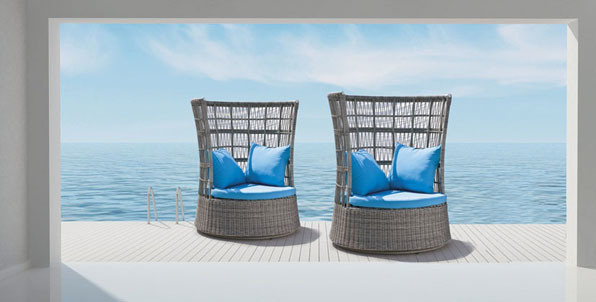 Outdoor Furniture Rattan Lying Bed Lounge Daybed
