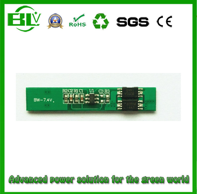 1860 Li-ion BMS Protection Circuit Board for 7.4V5a Battery Pack with Full Protections