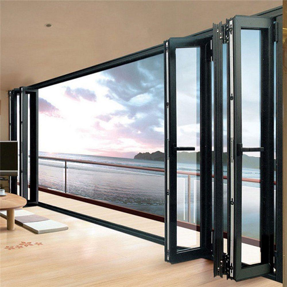 China New Design Exterior Aluminum Frame Folding Glass