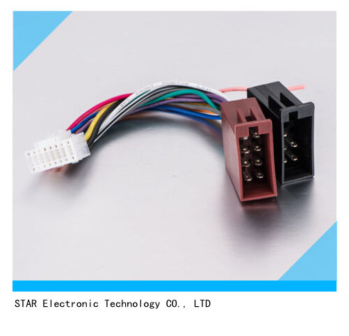high quality 8 pin iso connector wire harness