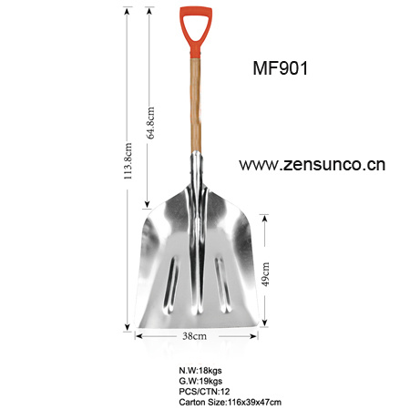 China Aluminum Alloy Snow Shovel With Wooden Handle High Quality